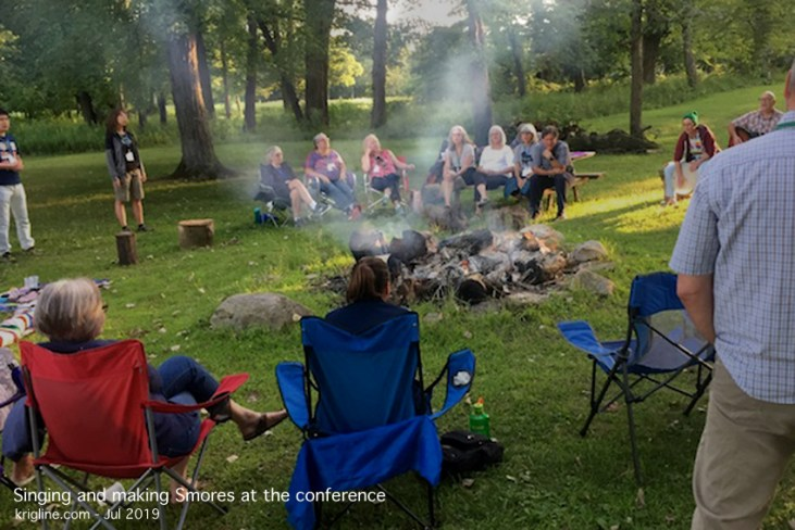 Among sessions designed up help us transition back into life in America, we enjoyed this campfire, with inspirational singing led by Marc Imboden (with the guitar).