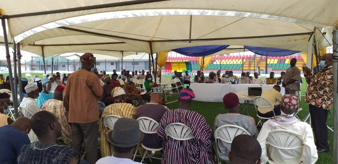 View of chiefs, imams and the durbar high table