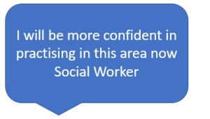 I will be more confident in practising in this area now - Social Worker