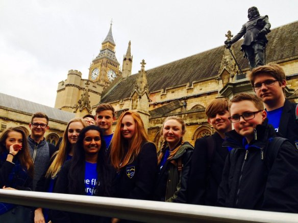 Young people at Houses of Parliament