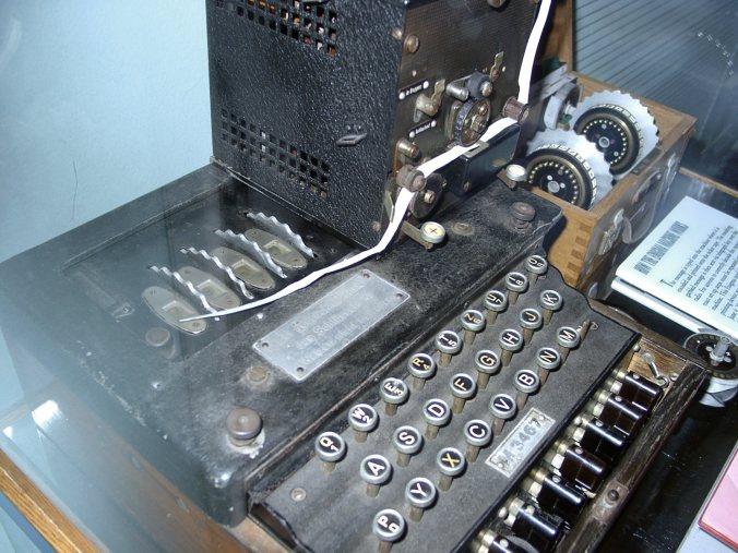 A four-rotor Enigma machine