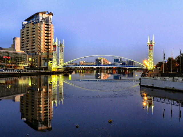 Salford Quays (image copyright David Dixon http://www.geograph.org.uk/photo/2685268) CC BY-SA 2.0