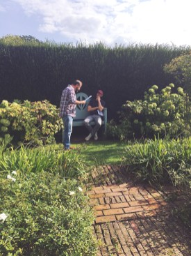Andrew Hodge and Jonny McPhearson in the Grey and White Garden