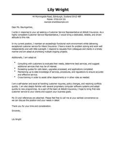 Customer Service Representative Cover Letter Examples LiveCareer