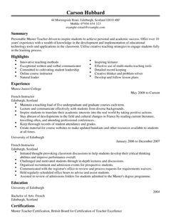 Master Teacher CV Example For Education LiveCareer