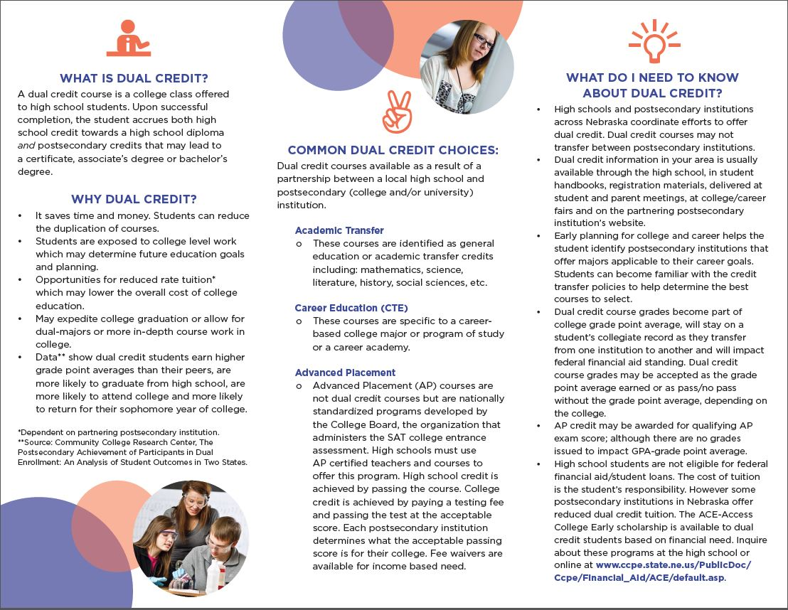 Dual Credit Brochure LNE Counseling Center