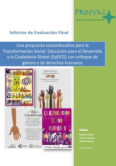 Una propuesta socioeducativa para la Transformación Social: Educación para el Desarrollo y la Ciudadanía Global (EpDCG) con enfoque de género y de derechos humanos