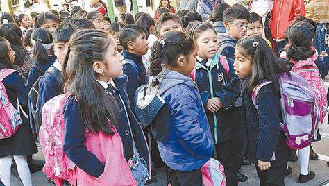 En La Paz, El Alto y altiplano del departamento rige el horario escolar de invierno