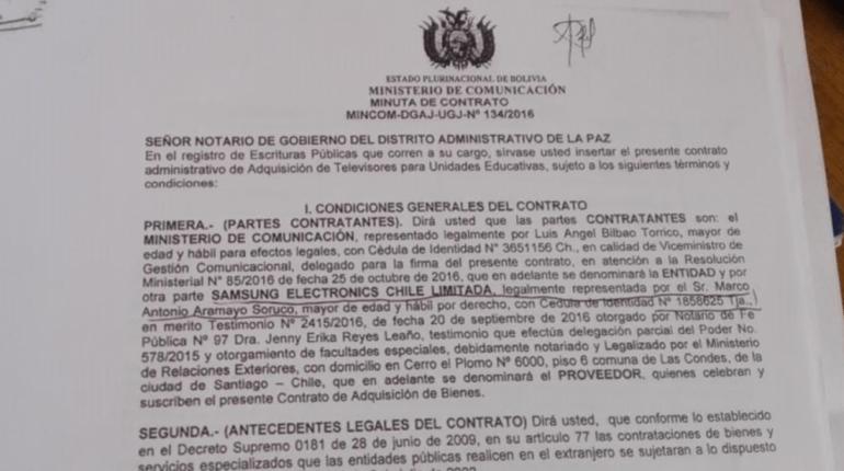 Ministerio de Comunicación adquiere en Chile 5.587 televisores para unidades educativas