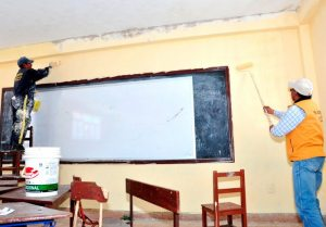 Plan para refaccionar unidades educativas en vacaciones