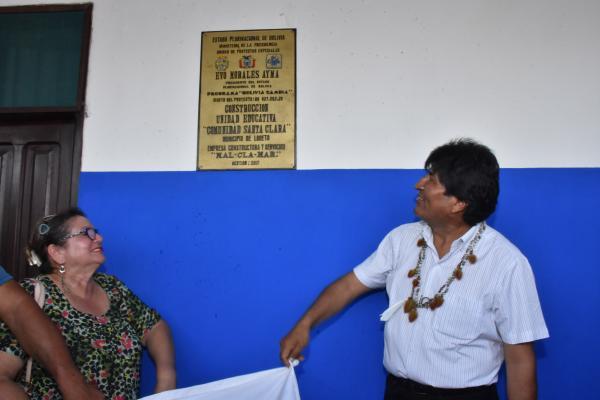 Gobierno construyó 7 colegios en el Tipnis