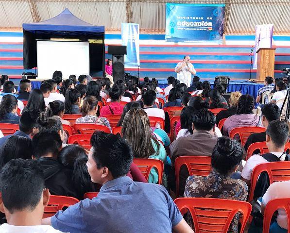 Riberalta: Ministro de Educación realiza Taller de Orientación Vocacional para 2.000 estudiantes de 41 establecimientos educativos