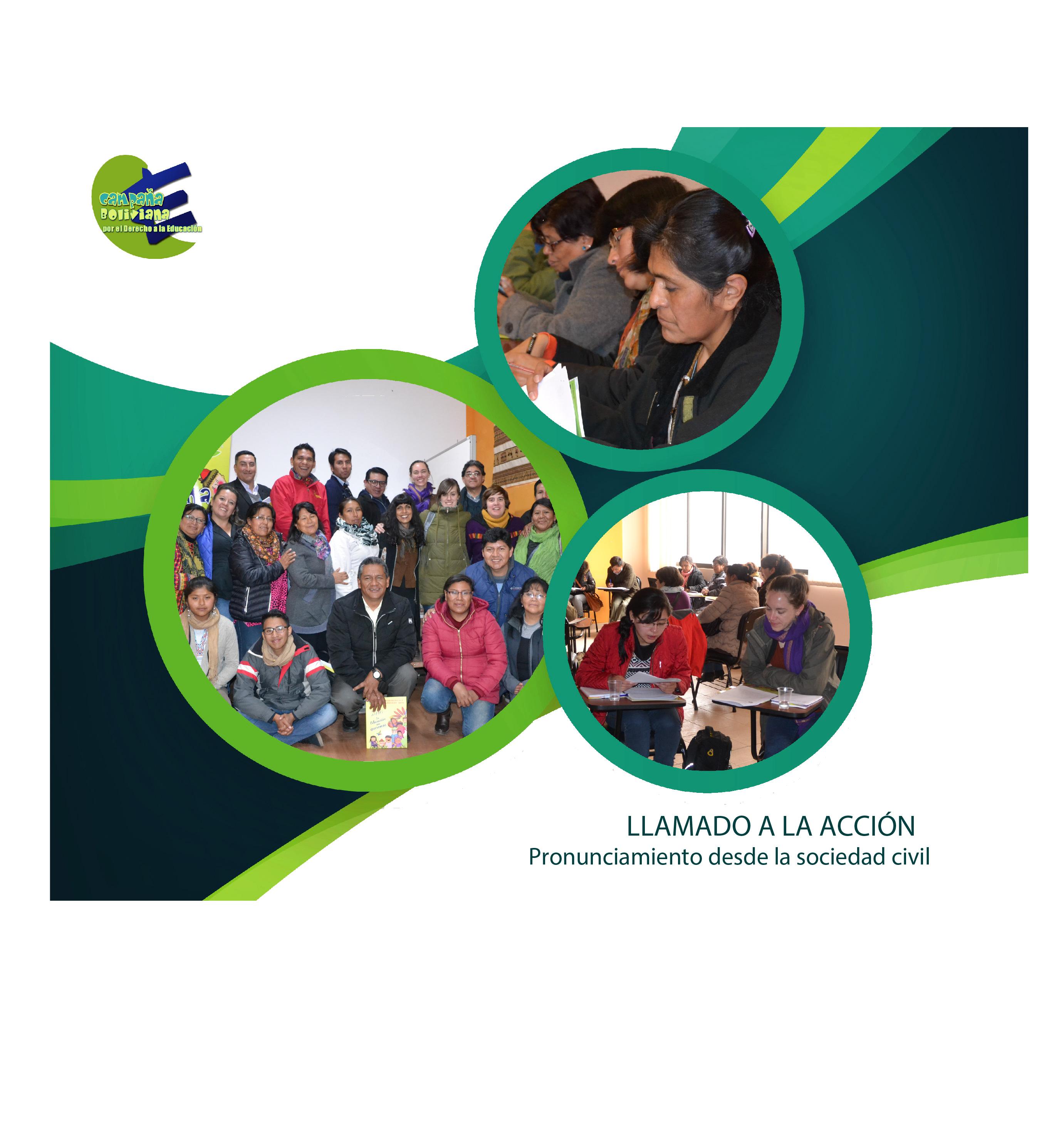 LLAMADO A LA ACCIÓN: Pronunciamiento desde la sociedad civil