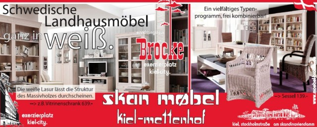 schwedische landhausm bel ganz in wei einrichtungshaus brocke skan m bel. Black Bedroom Furniture Sets. Home Design Ideas