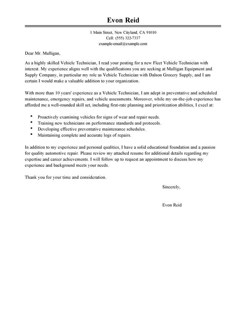resume cover letter maintenance technician sample customer resume cover letter maintenance technician resume cover letter samples bestsampleresume automotive technician cover letter sample my