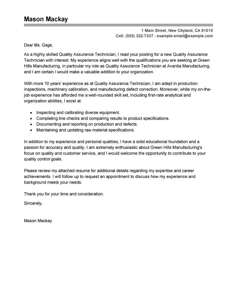 Radio Technician Cover Letter Facilities Manager Cover Letter Cover Letter  For Automotive Technician Apprenticeship Radio Technician