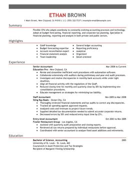 Accounting Resume Examples - Examples of Resumes