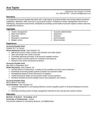 Unforgettable Accounts Payable Specialist Resume Examples ...
