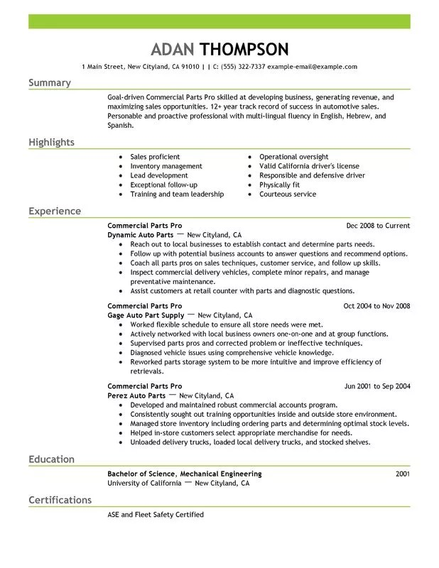 Parts Manager Resume Top 8 Parts Manager Resume Samples 1