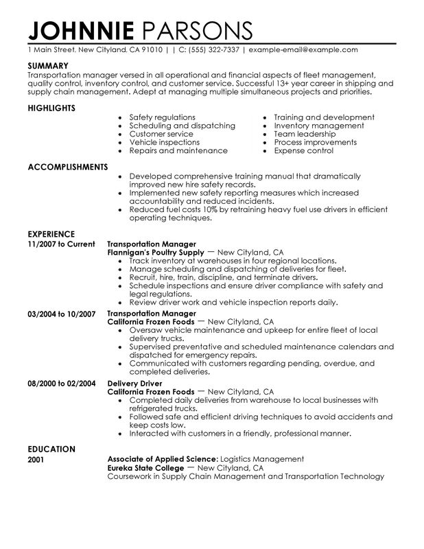 Unforgettable Store Manager Resume Examples To Stand Out