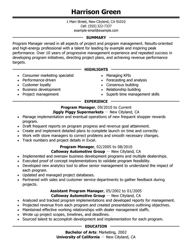 Impactful Professional Management Resume Examples & Resources