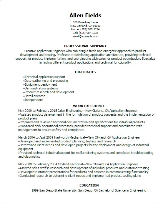 Compliance Engineer Sample Resume Ideas Collection Regulatory