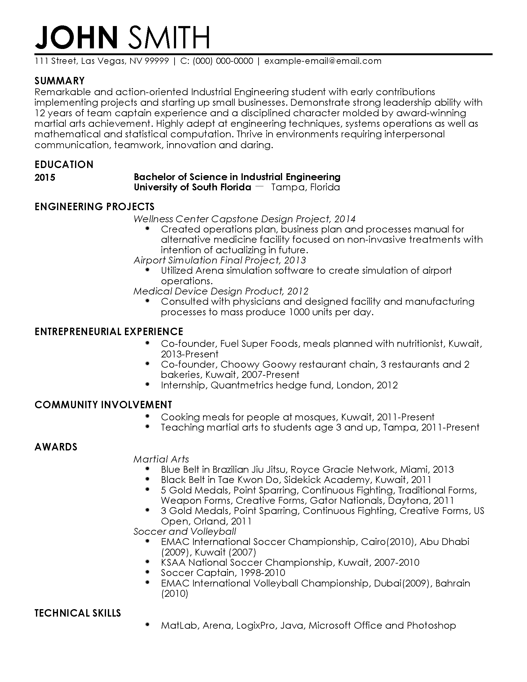 How To Make The Perfect Resume Entry Resume For Hamad Alnabhan My Perfect Resume