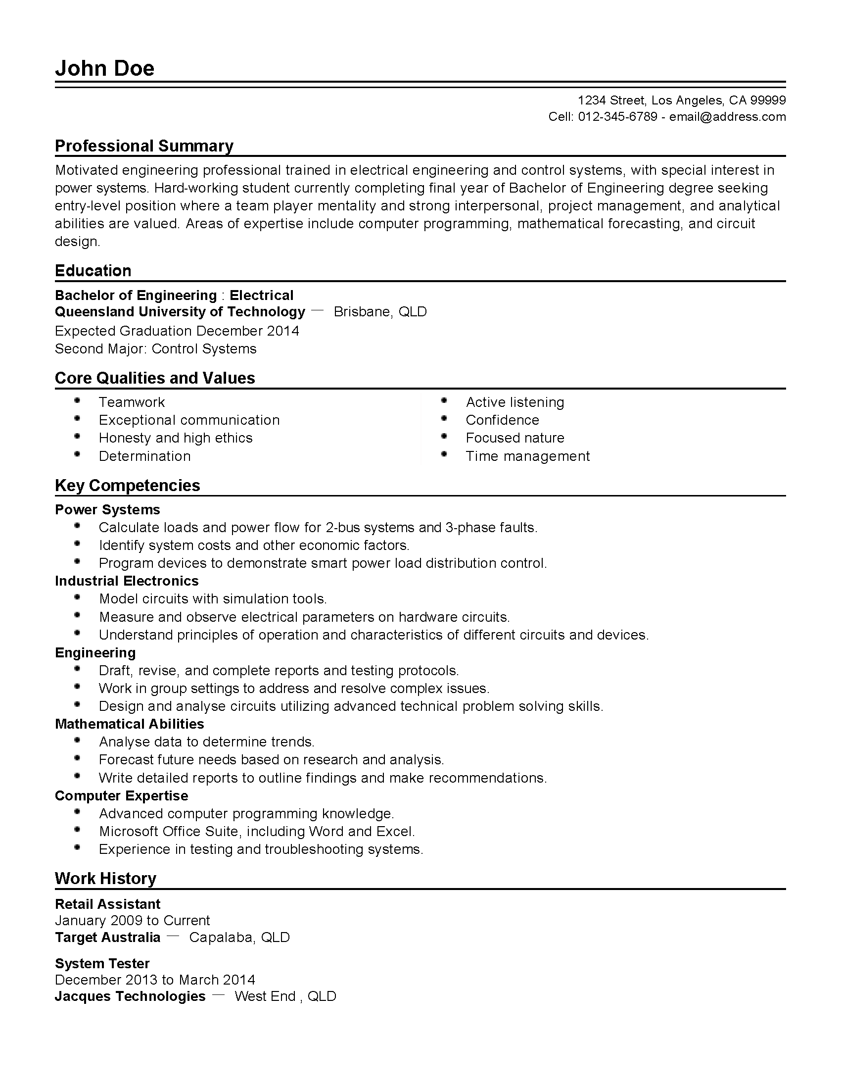 Service Engineer Resume Format Medical Field Service Engineer Resume
