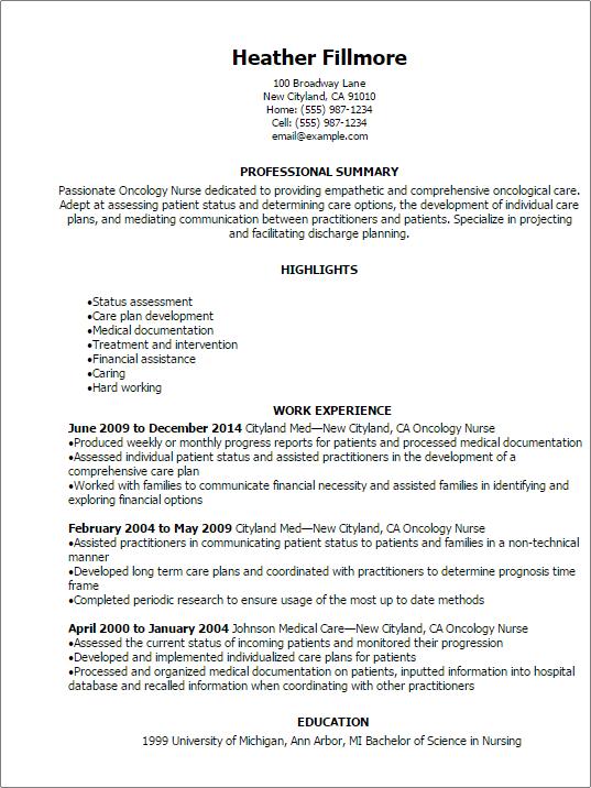 Nursing Resume Objectives For Entry Level   Sample Customer ...