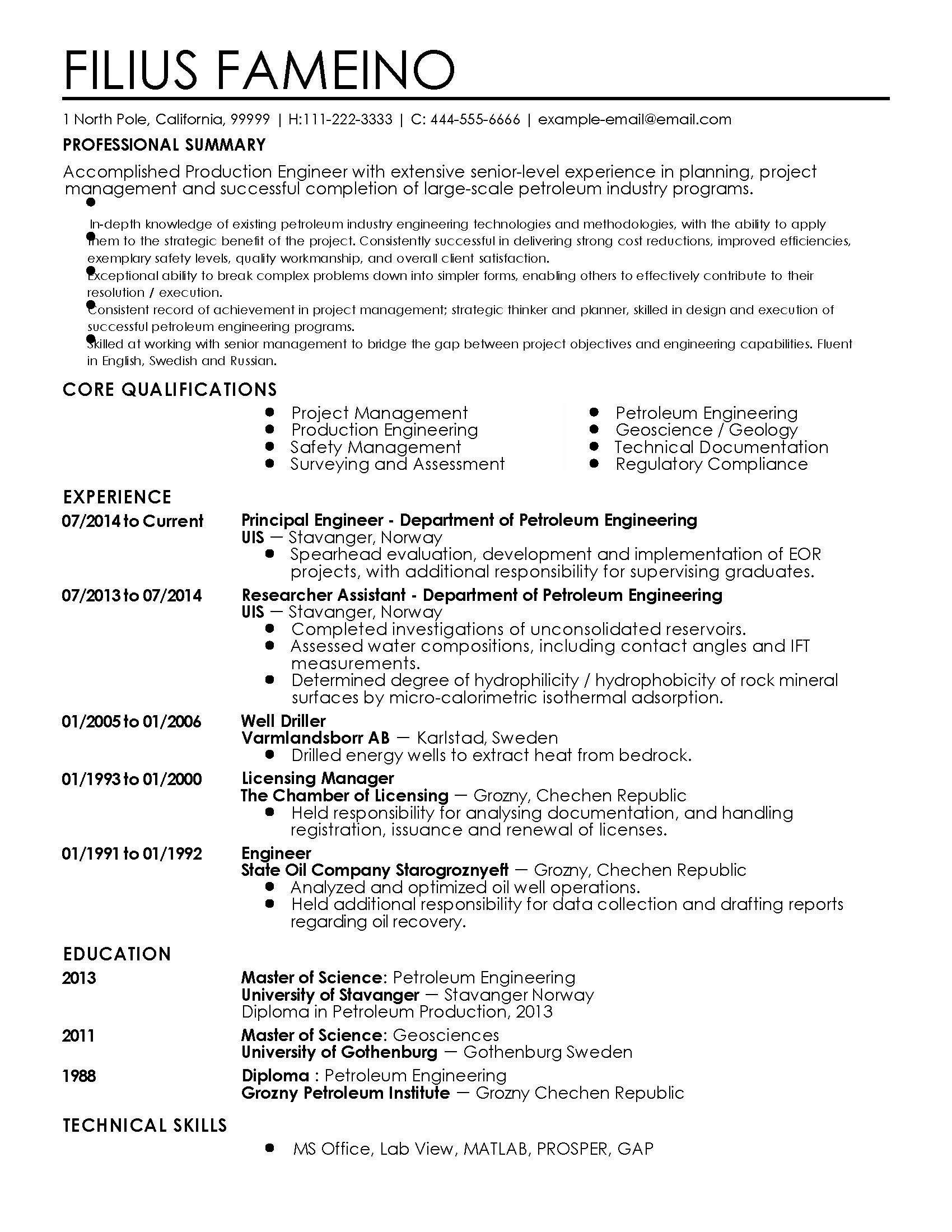 How To Make The Perfect Resume Professional Resume For Rinad Munaev My Perfect Resume