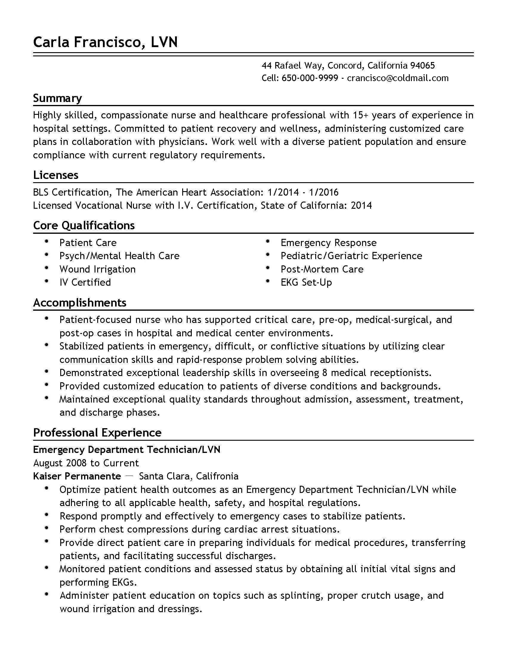 Emt Resume No Experience Template Professional Emergency Department Technician Templates To