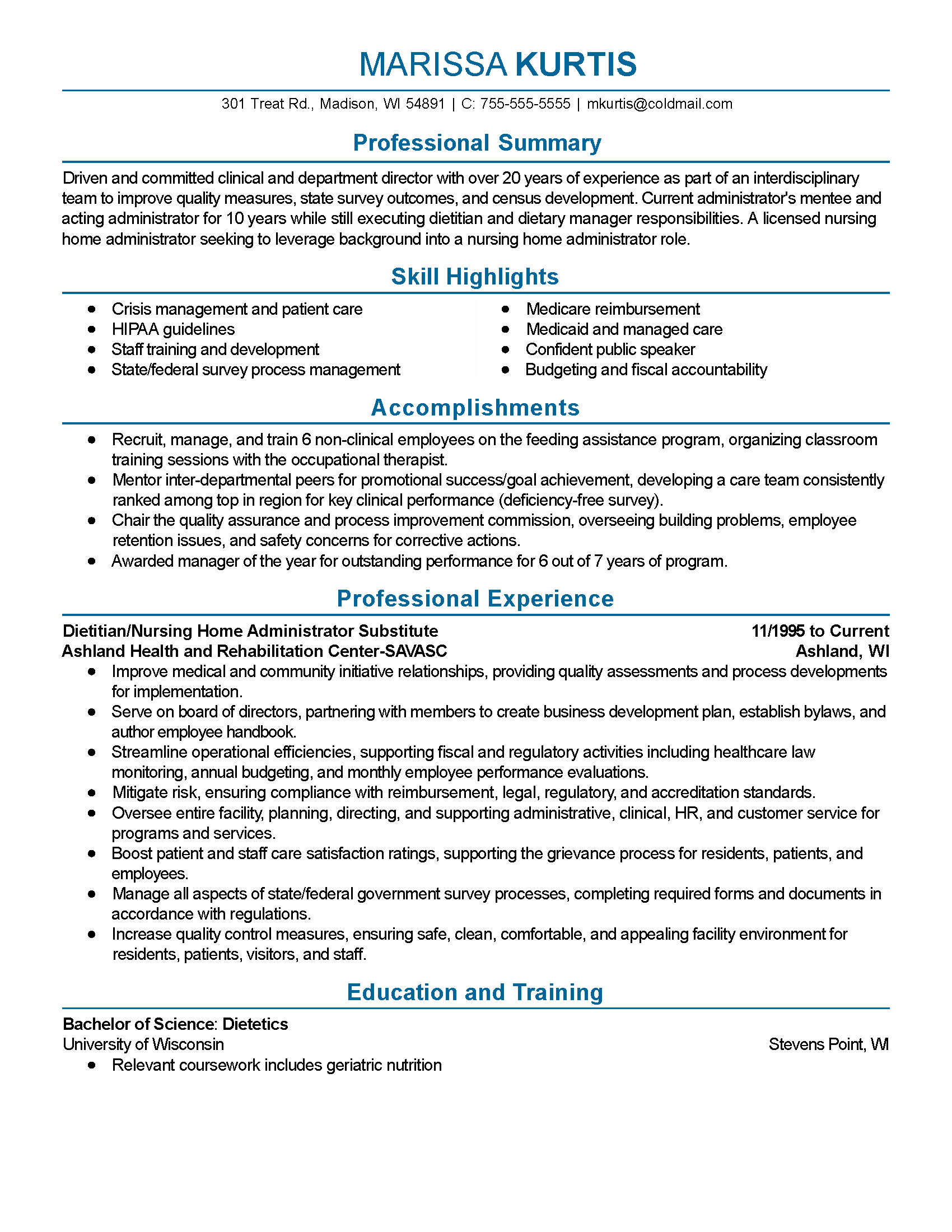 Professional Examples Of Resumes Professional Dietitian Templates To Showcase Your Talent