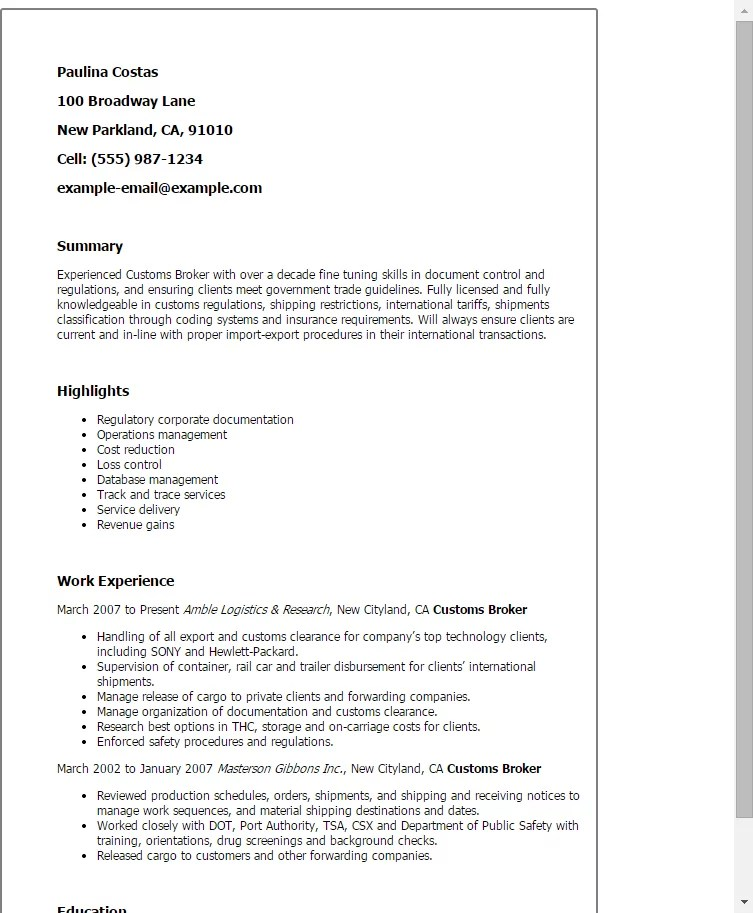 mortgage broker resume sample starengineering - Mortgage Broker Resume Sample