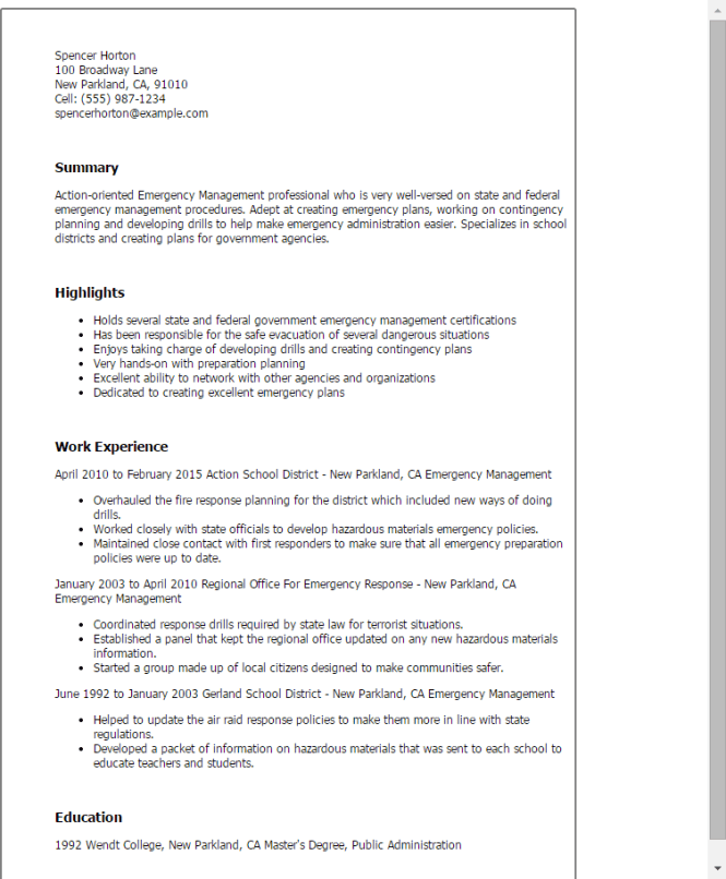 made up resume resume sample