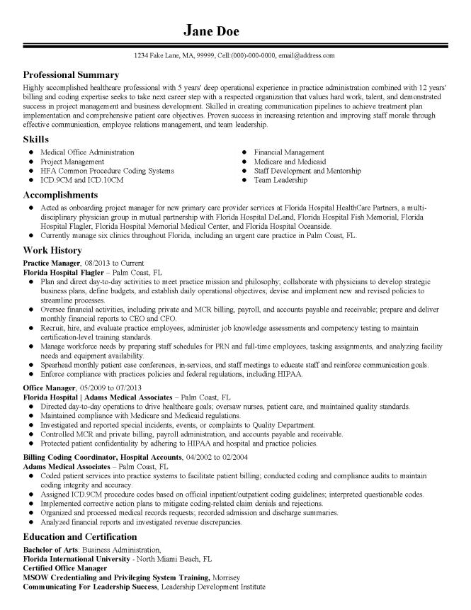 practice resume templates