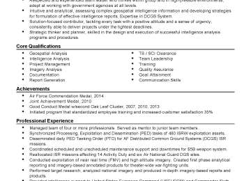 All Source Intelligence Analyst Cover Letter | List Of Business ...