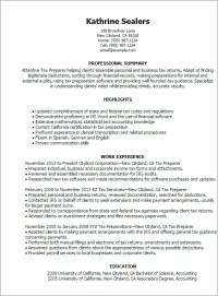 #1 Tax Preparer Resume Templates: Try Them Now ...