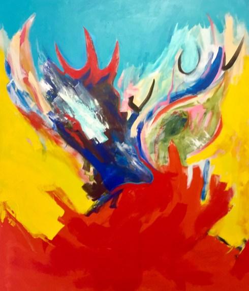 """Acrylic on Canvas- 60"""" x 50"""" 2017"""