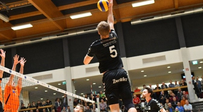 Volley League MEN / Blockparty gegen Amstetten