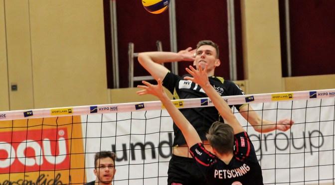 Volley League MEN / Knapper Heimsieg gegen Tabellenschlusslicht Klagenfurt