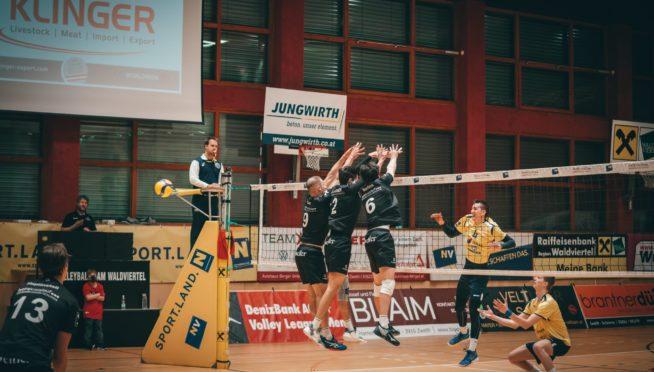 Volley League Men / Mit vollem Einsatz ins Halbfinale