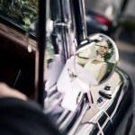 Hochzeit im Odenwald mit altem Jaguar