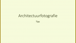 Powerpoint Architectuurfotografie