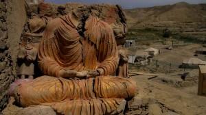 An endanged Buddha at Mes Aynak
