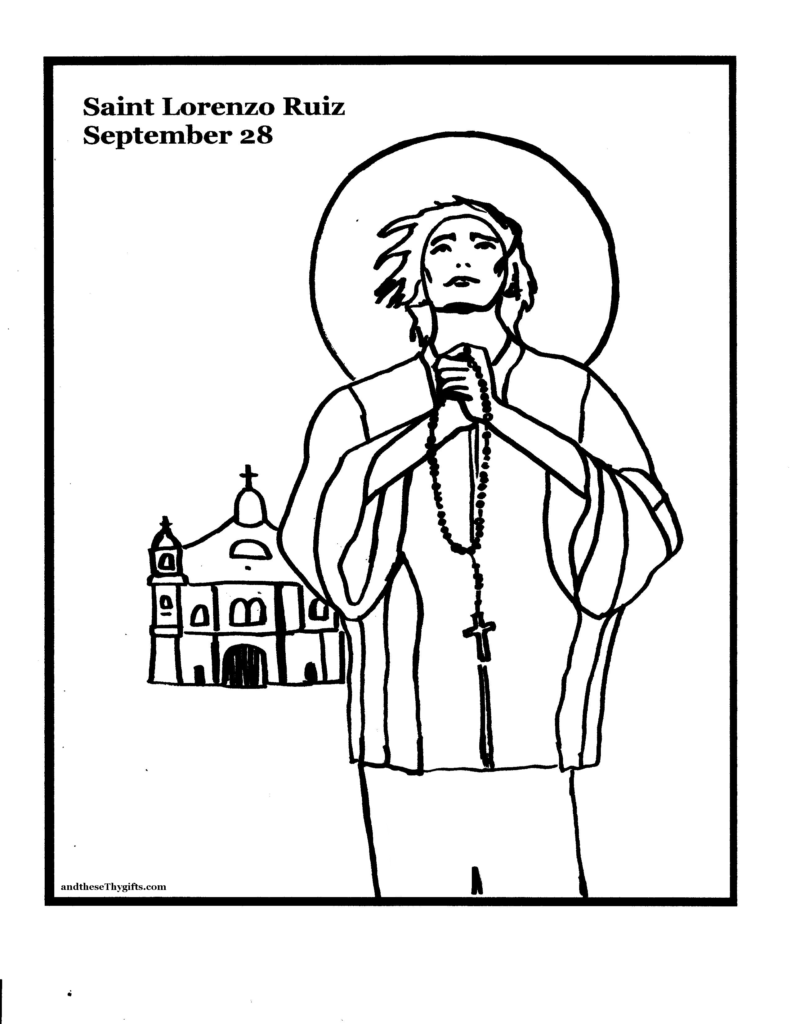 St. Lorenzo Ruiz Coloring Page