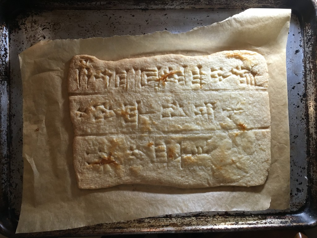 Tablet 1, baked.