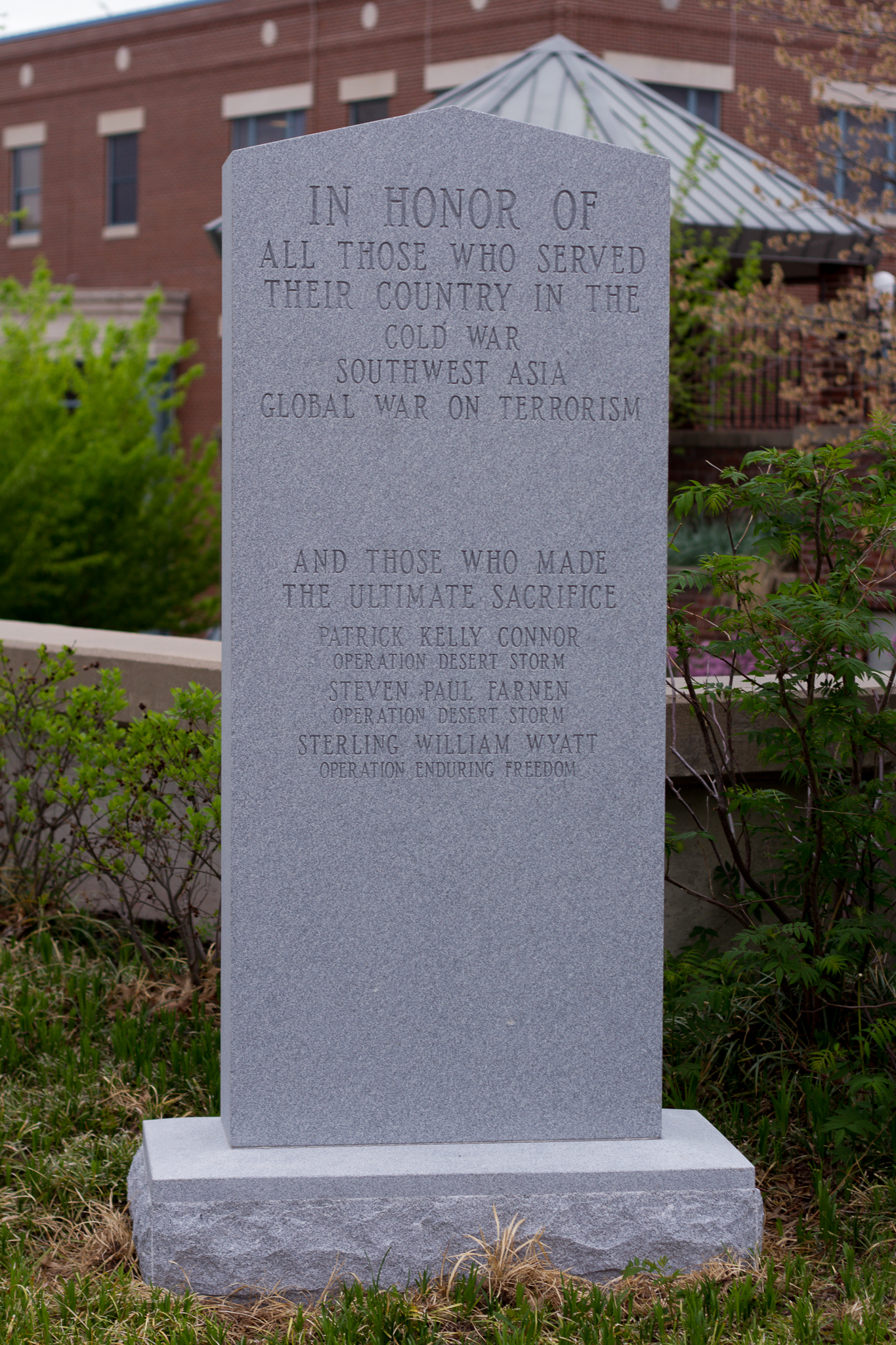 The Boone County MO Christian Veterans Memorial Has Been
