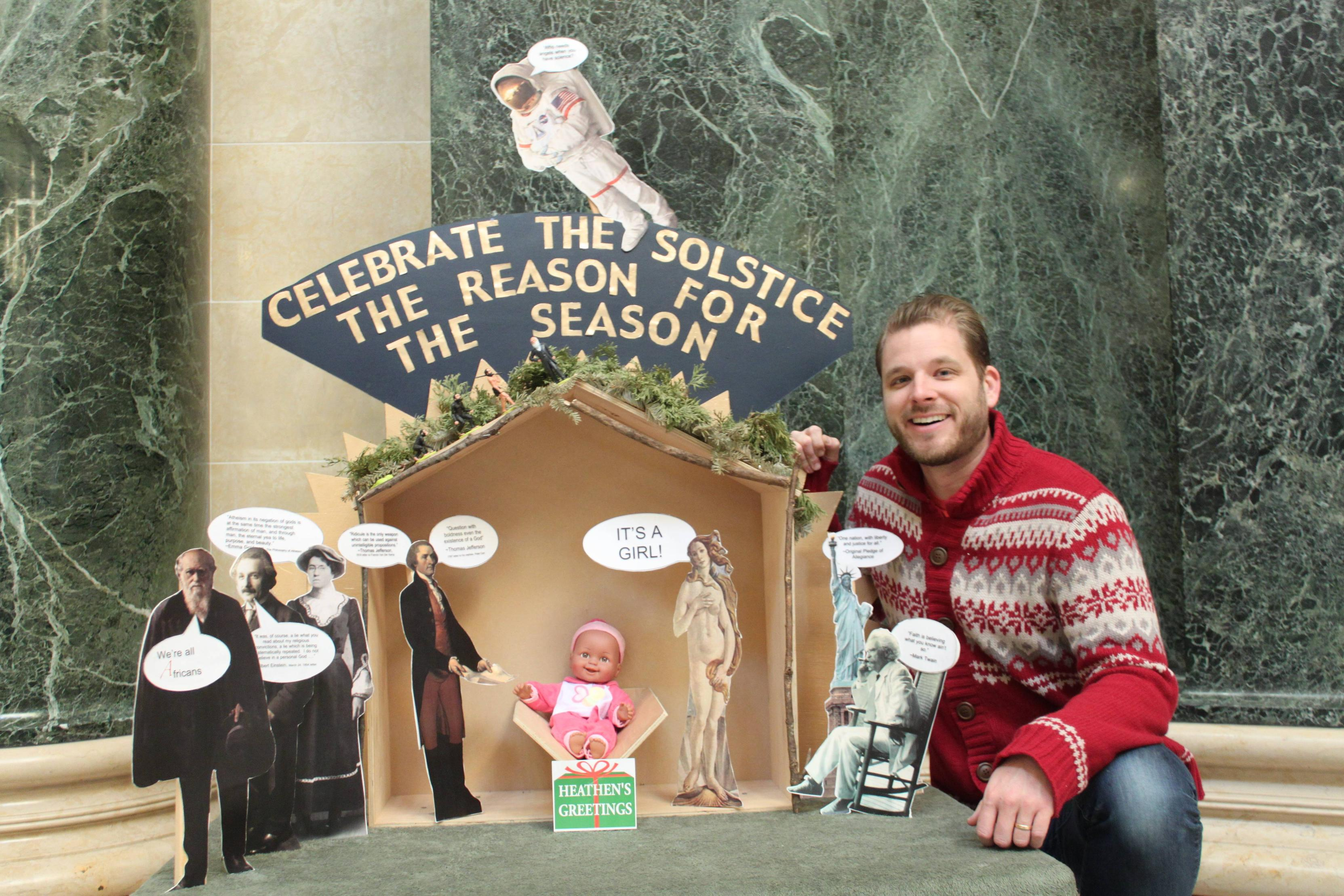 FFRFs Natural Nativity Scene Goes Up In Wisconsin