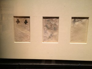 The next set of photos is from Vatican Splendors. These are old playing cards that were found mixed into mortar to patch holes in the Sistine Chapel