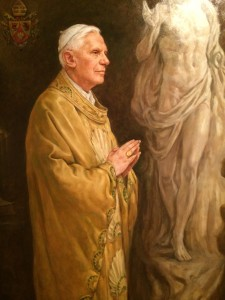 A really lovely portrait of Benedict XVI by Igor Babailov